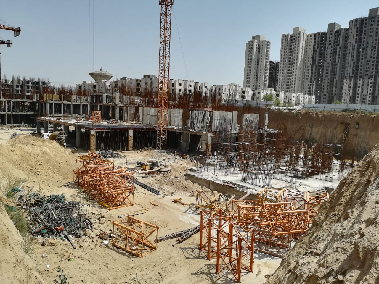 BASEMENT CONSTRUCTION OF TOWER 2 & 3 AND ALSO RAFT CONSTRUCTION OF TOWER 4